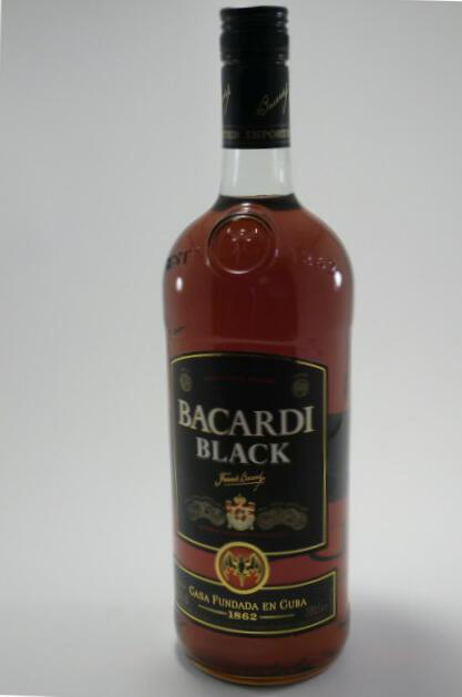 Bob Marley engraved on Bacardi black rum (100cl)