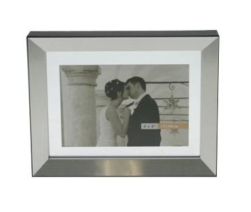 Double sided photo frame 15X10 Alu-Silver/Black