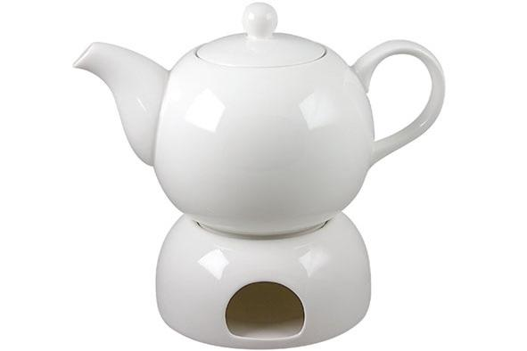Teapot + Warmer D22Xh16  New Bone China