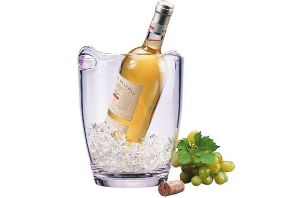 Acrylic Wine Cooler with handles D.18.5Cm-H.23,5Cm