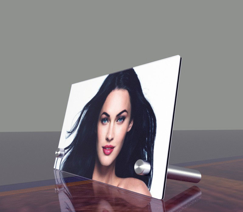Photo frame with metal support (Plexiglass on Dibond)