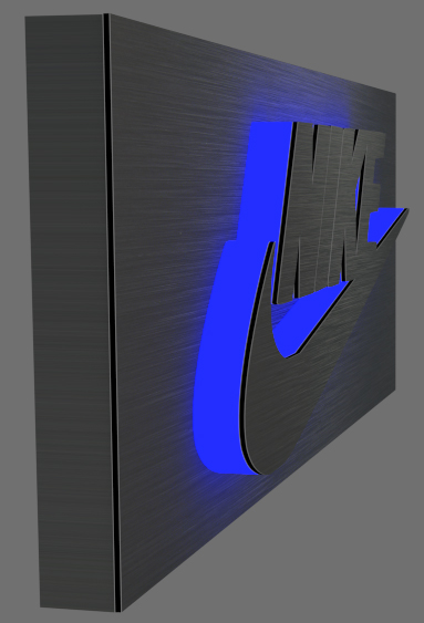 LED Business Logo Sign (Alu crown)