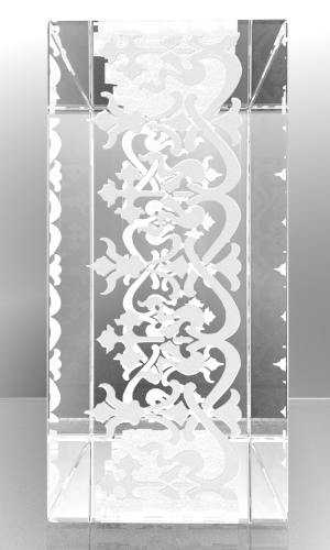 Design it yourself - plexiglass 20mm thick (engrave sides & frames)
