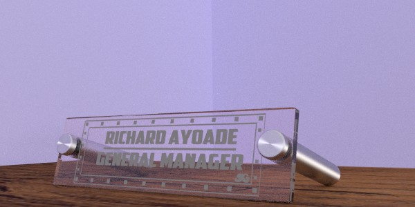 Nameplate with support