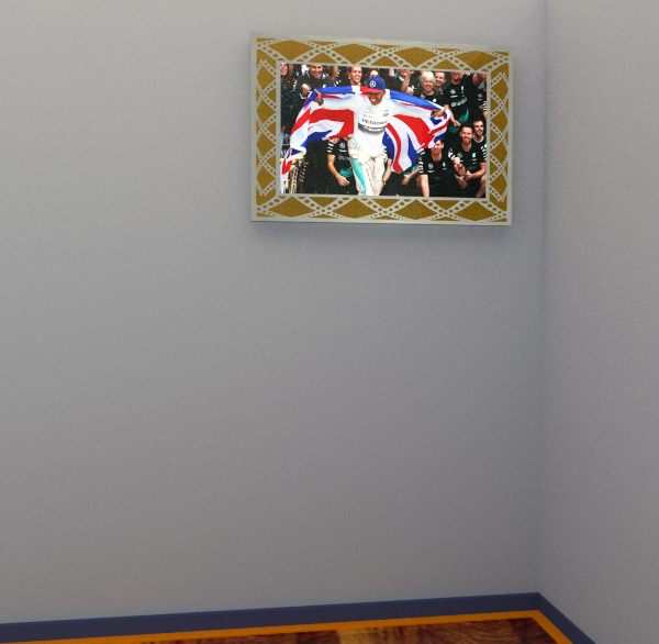 Dibond ' Plexiglass wall photo (engraved ' gold)