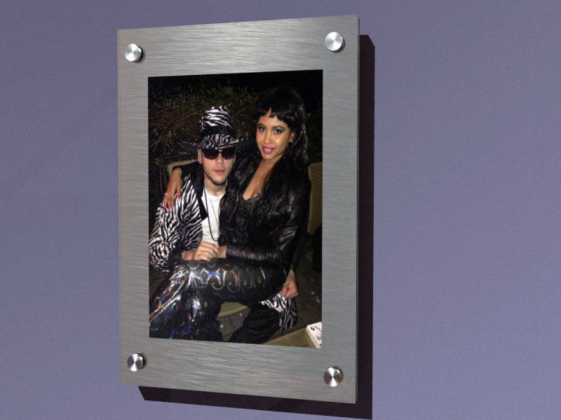 Dibond & Plexiglass wall photo (partial mount)